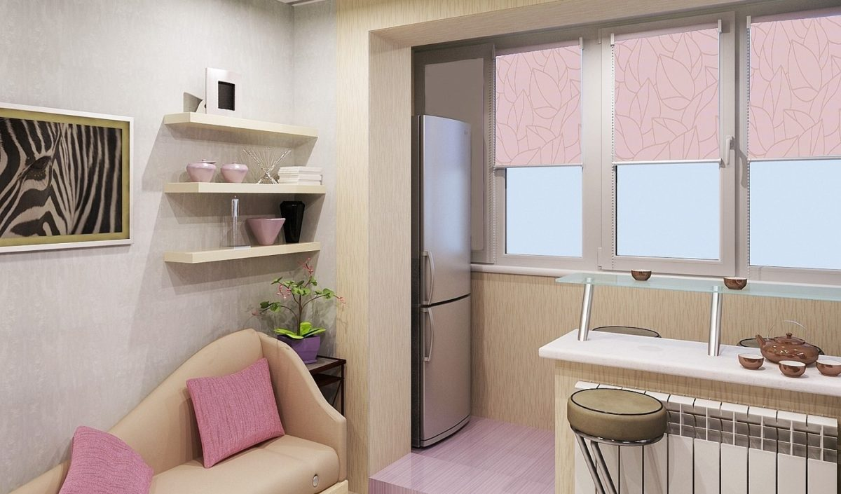 Кухня на лоджии, идеи дизайна.